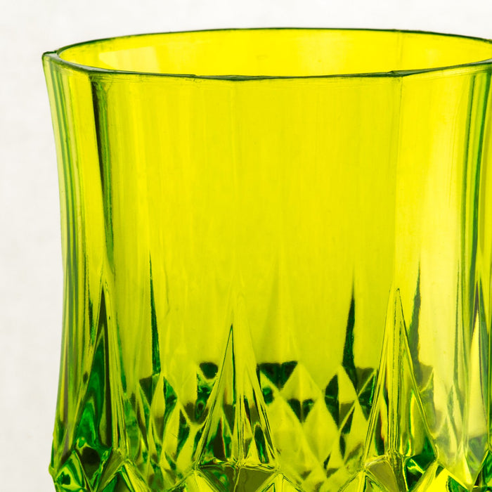 Green Acrylic Diamond Goblet