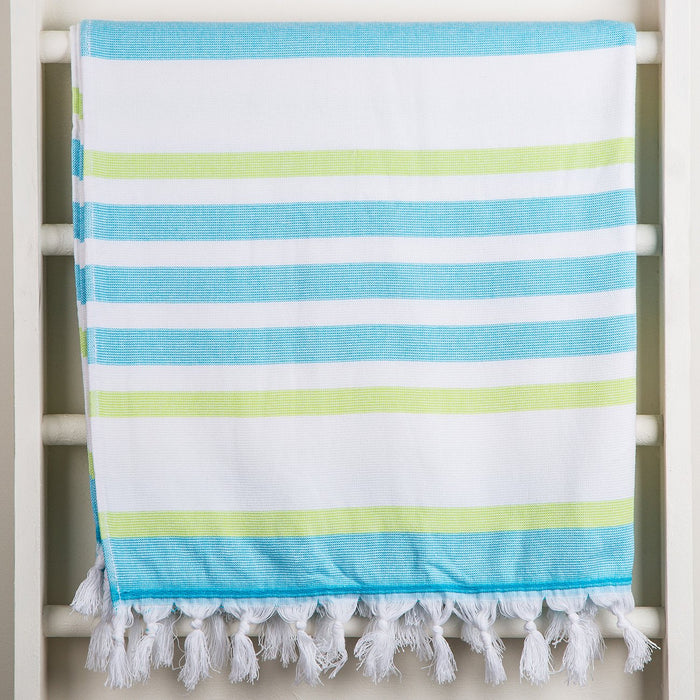 Green and Blue Oasis Towel