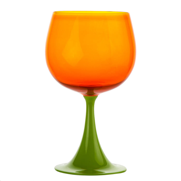 Green & Orange Burlesque Nason Moretti Goblet