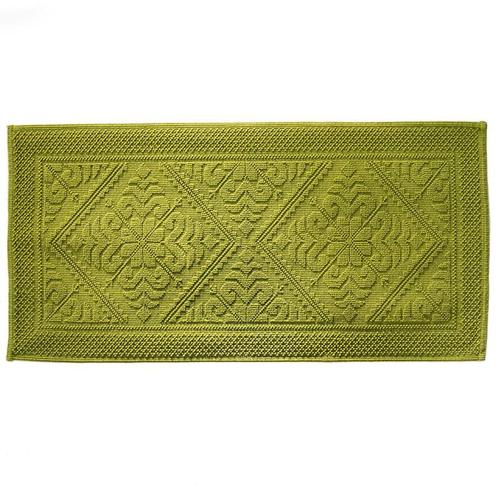 "Green Cotton Bath Mat (43"" x 21"")"