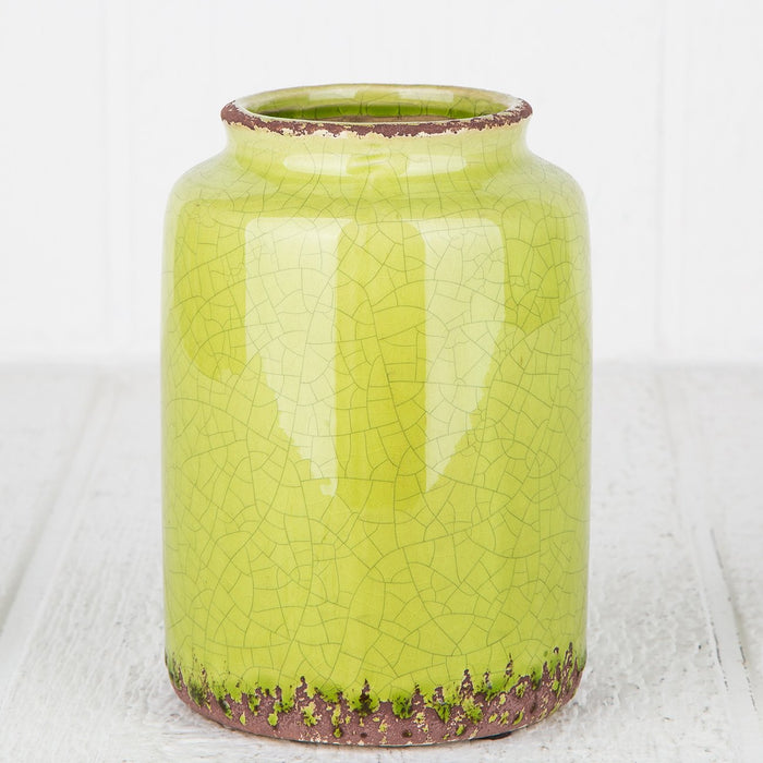 Green Crackle Vase