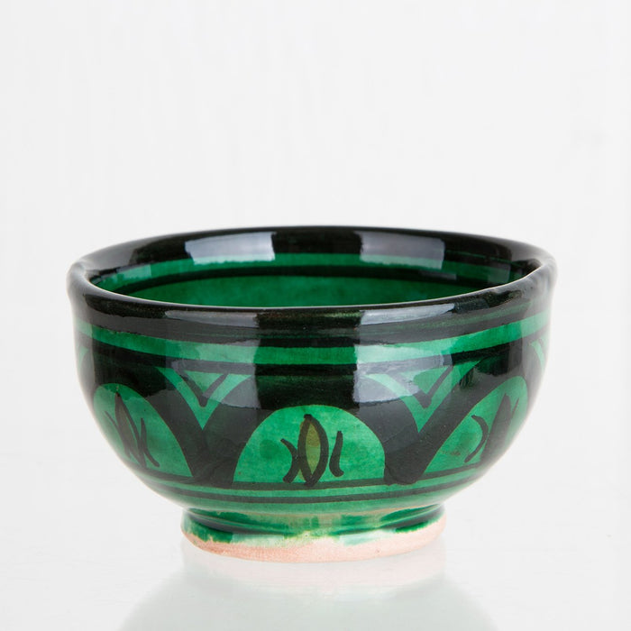 Green Hand Painted Moroccan Bowl (XS)