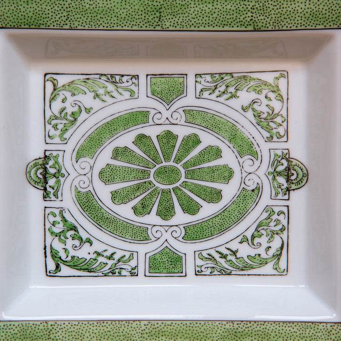 Green Italian Baroque Decorative Tray