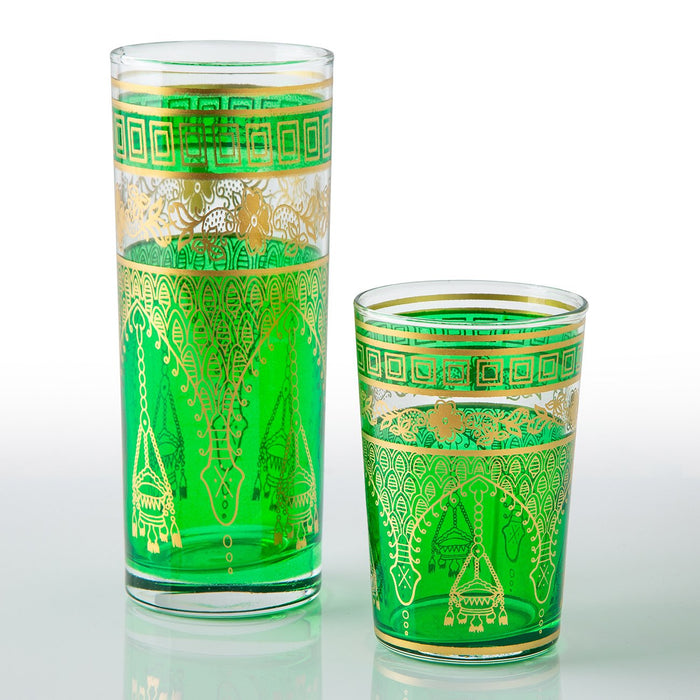 Green Misbah Moroccan Tea Glasses