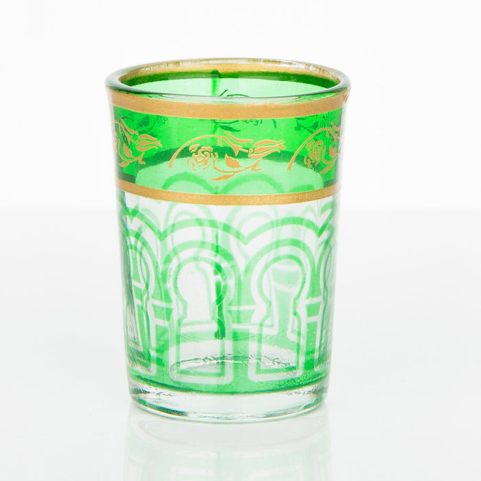 Green Moroccan Shot Glass