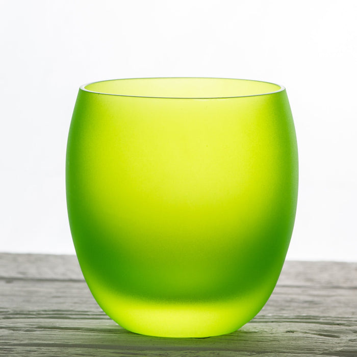 Green Oslo Glass Tumbler, Frosted