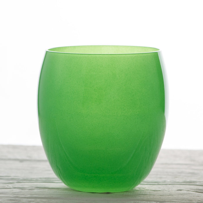 Green Oslo Glass Tumbler