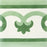 "Green Palma Frise Carocim Tile (8"" x 8"") (pack of 12)"