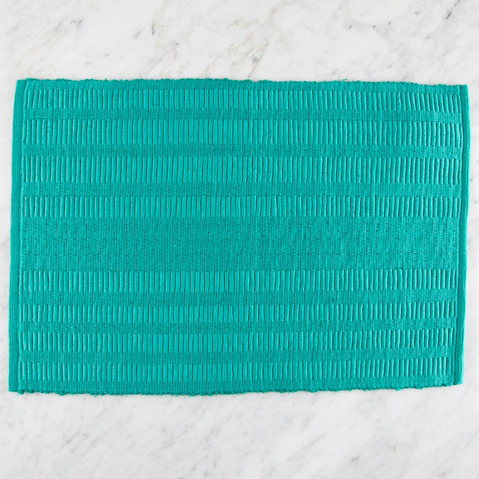 "Green Patterned 100% Cotton Rep Weave Placemat (18.5"" x 13"")"