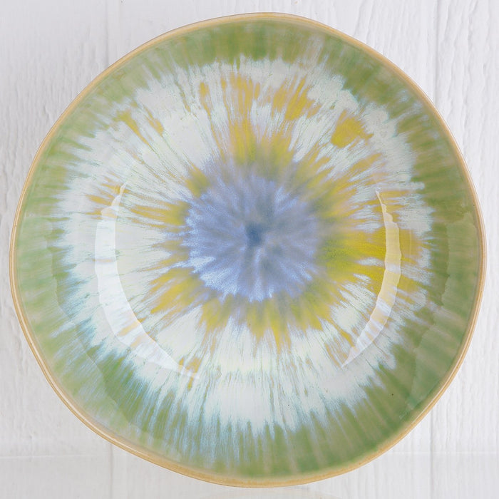 Green Reactive Serving Bowl