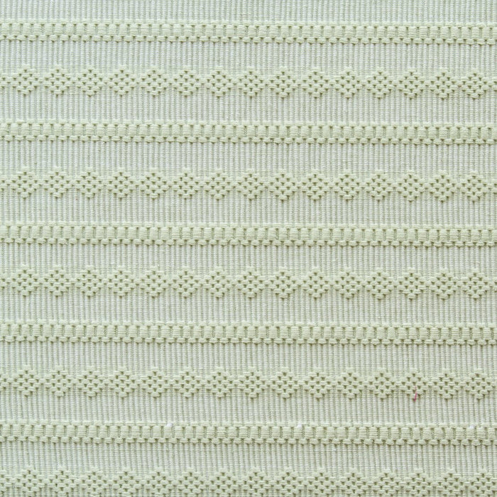 "Green Stripe & Diamond 100% Cotton Rep Weave Placemat (19.25"" x 13"")"