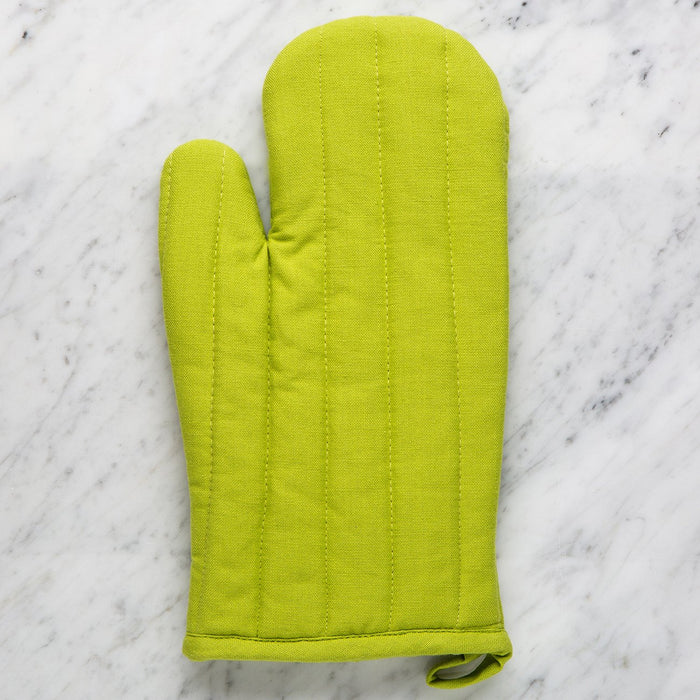 Green Terry-Cloth Oven Mit