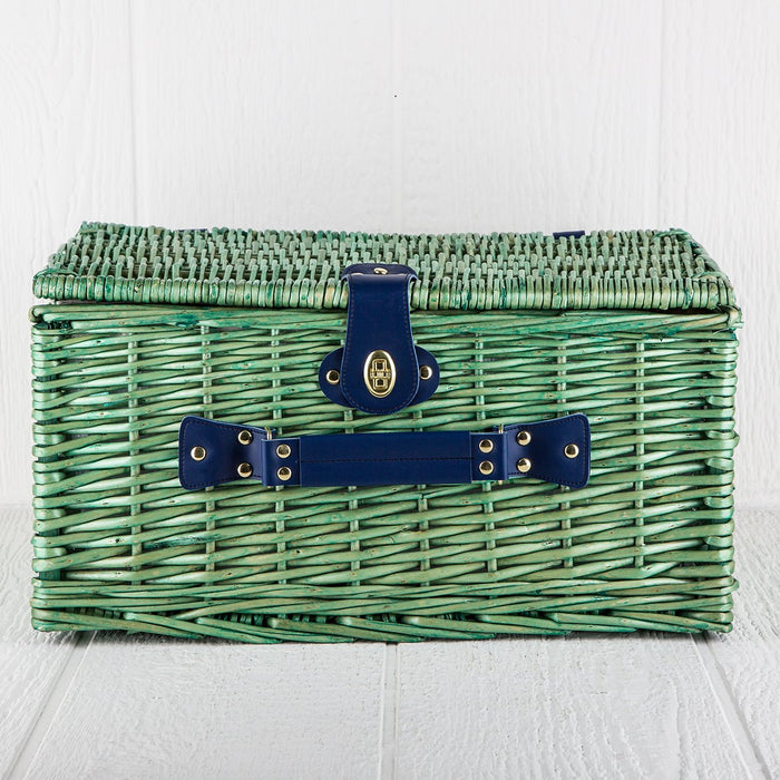 Green Wicker Picnic Basket