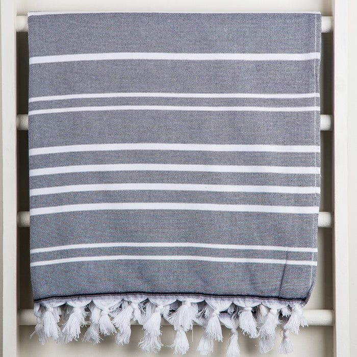 Grey and White Oasis Towel