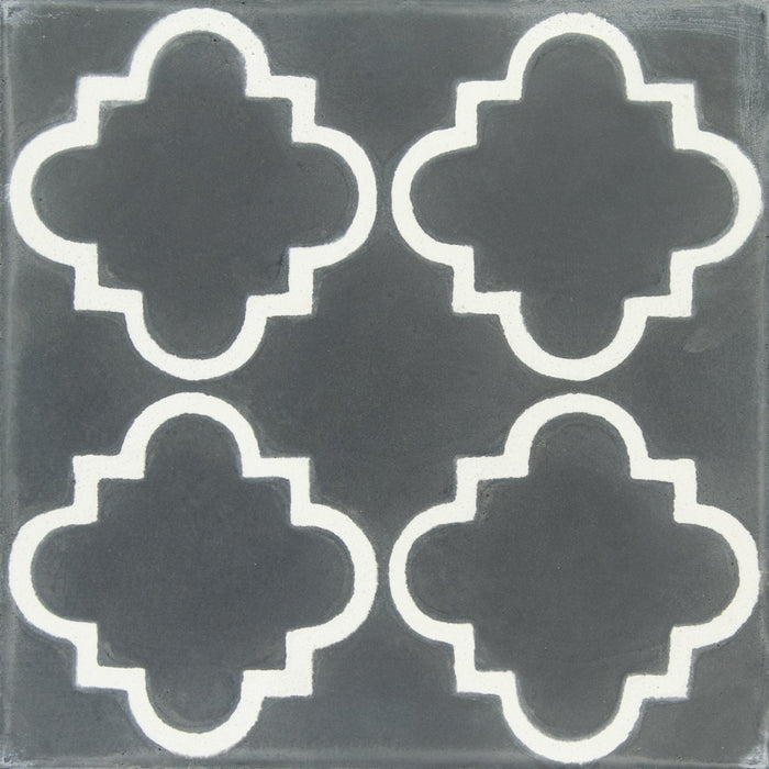"Grey & White Taormina Carocim Tile (8"" x 8"") (pack of 12)"