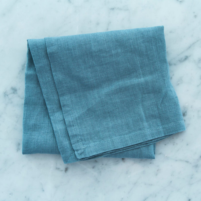 "Grey Blue 100% Linen Soft Napkin (20"")"