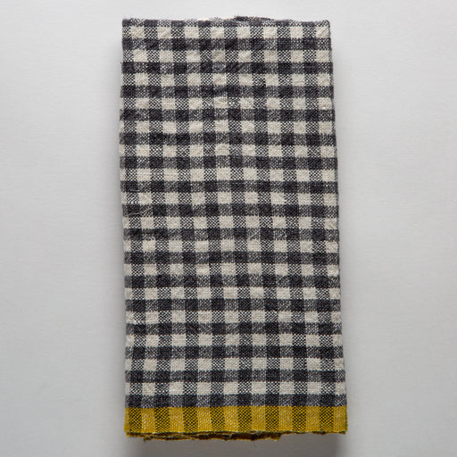 Grey Checked Gingham Tea Towel