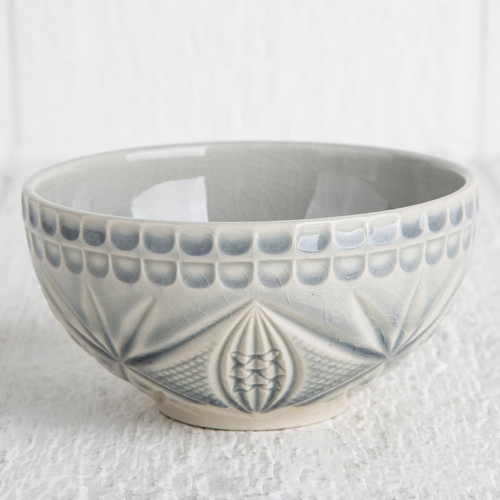Grey Crystal Appetizer Bowl