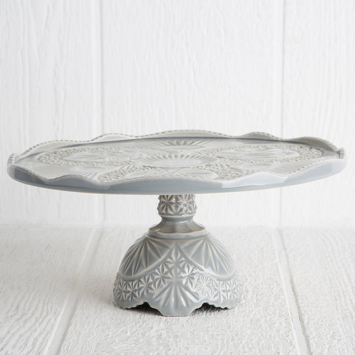 Grey Crystal Cake Stand