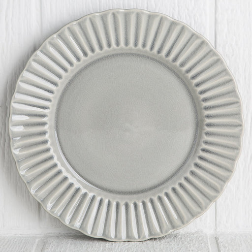 Grey Crystal Dinner Plate
