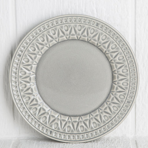 Grey Crystal Salad Plate