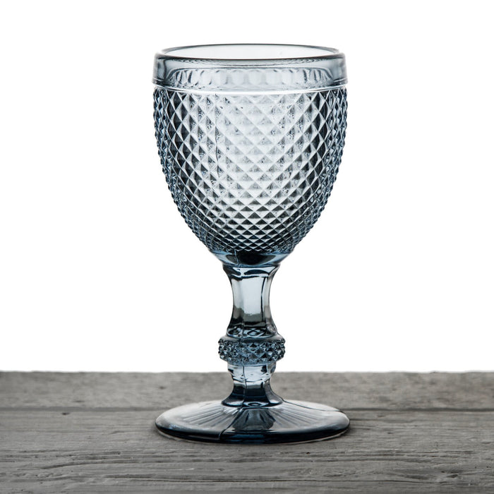 Grey Embossed Wine Glass Goblet
