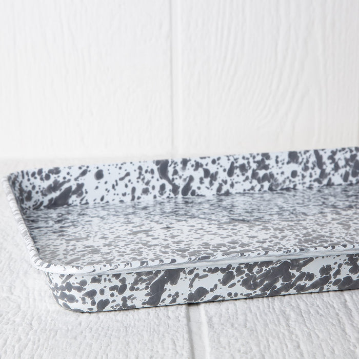 Grey Enamelware Jelly Roll Pan