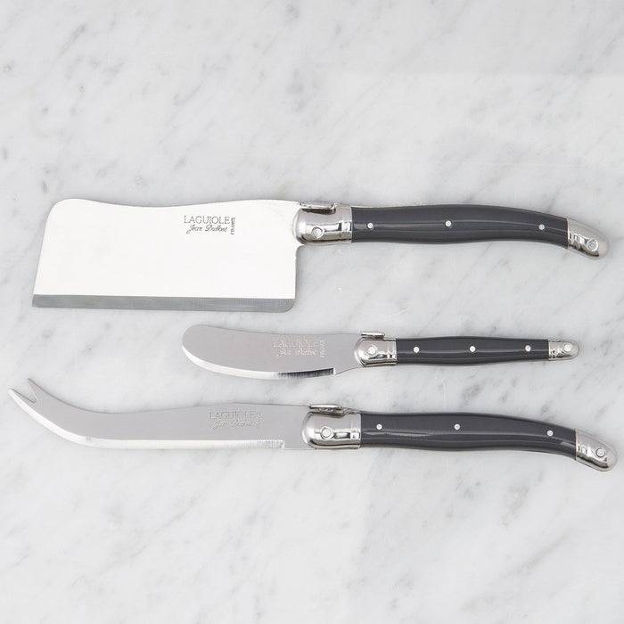Grey Laguiole 3 Piece Cheese Set
