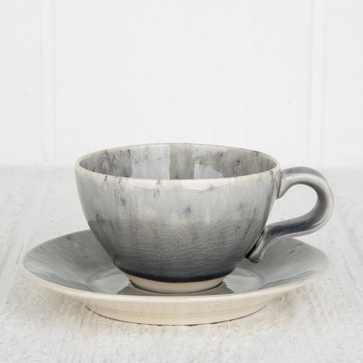 Grey Maderia Cup & Saucer