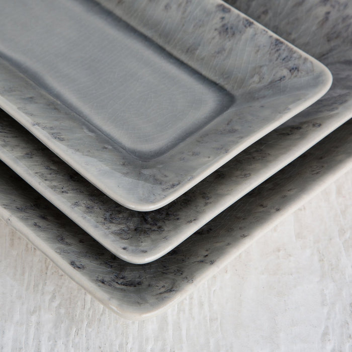 Grey Maderia Serving Platter (Large)