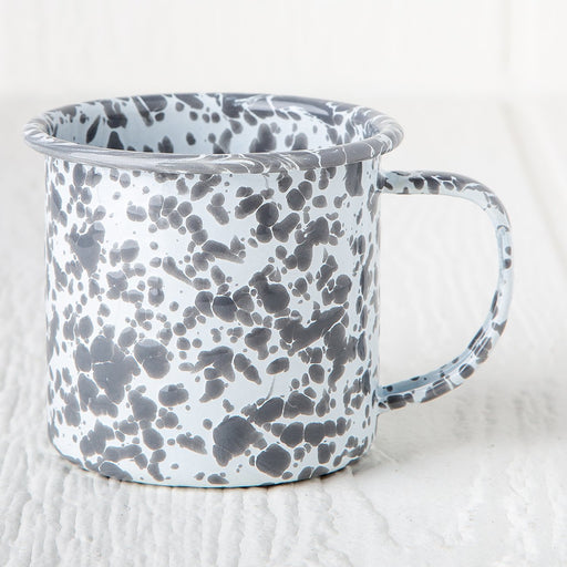 Grey Marble Enamelware Coffee Mug (8 oz.)