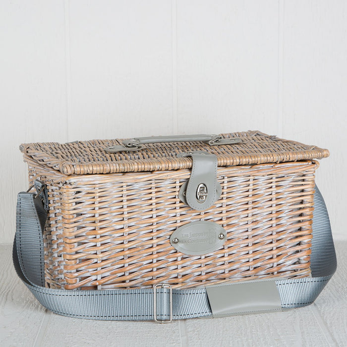 Grey Paris Wicker Picnic Basket (2 person)