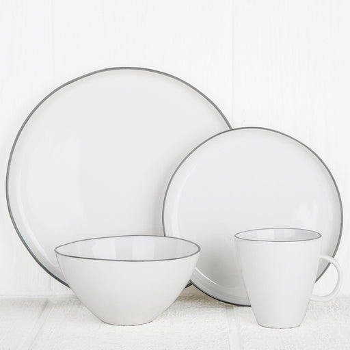 Grey Rimmed Ceramic Dinnerware