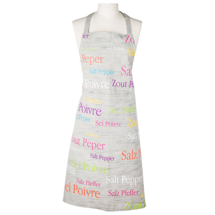 Grey Salt & Pepper Apron