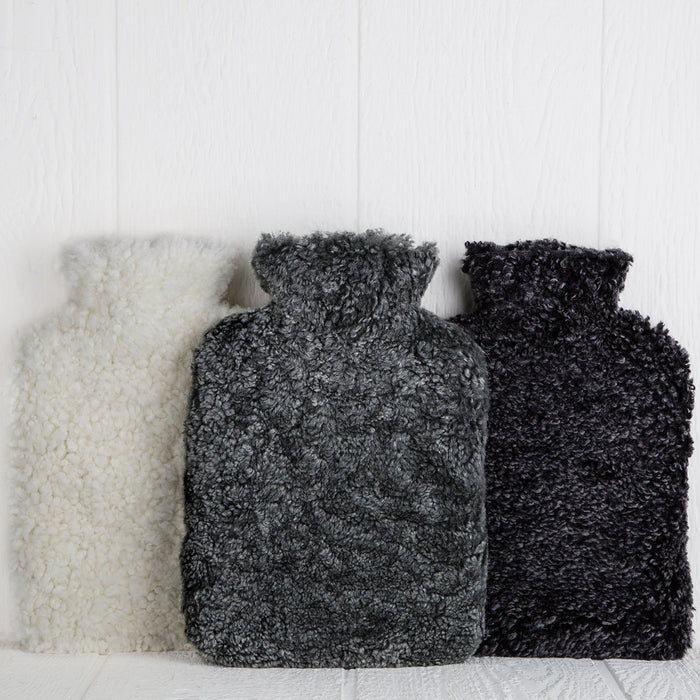 Grey Sheepskin Hot Water Bottle