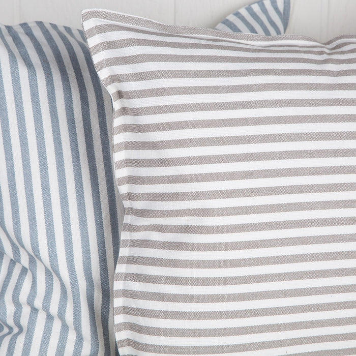 Grey Striped Abbot Pillow