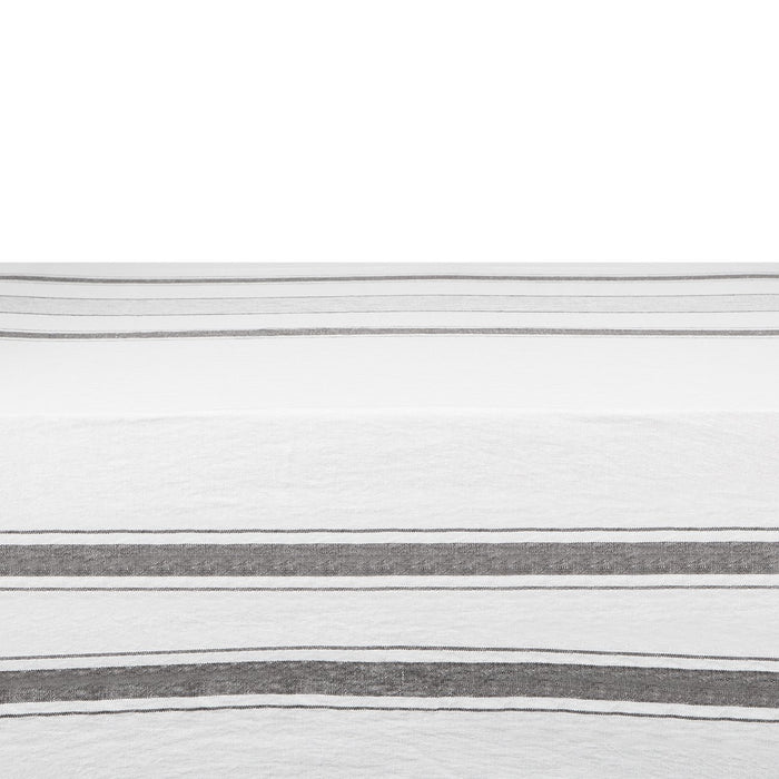 "Grey Striped Nappe Tablecloth (67"" x 98.5"")"