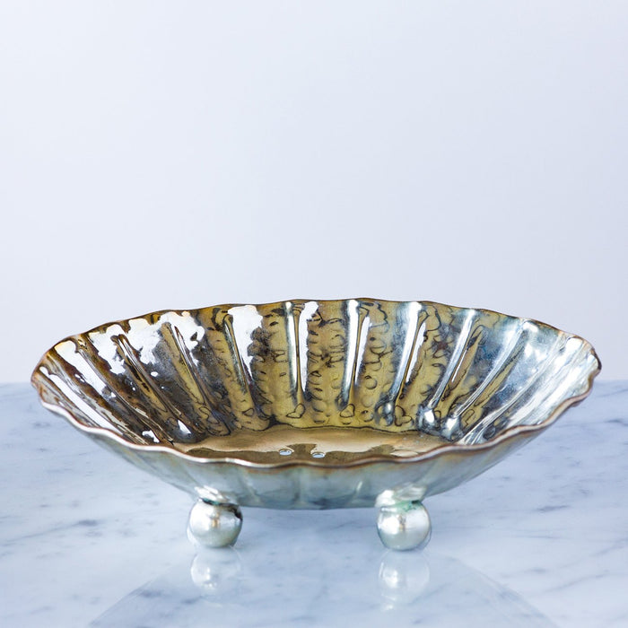 Hammered Antique Metal Soap Dish