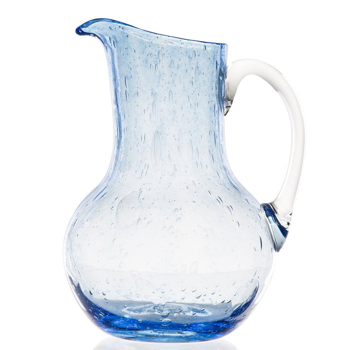 Hand Blown Blue Pitcher