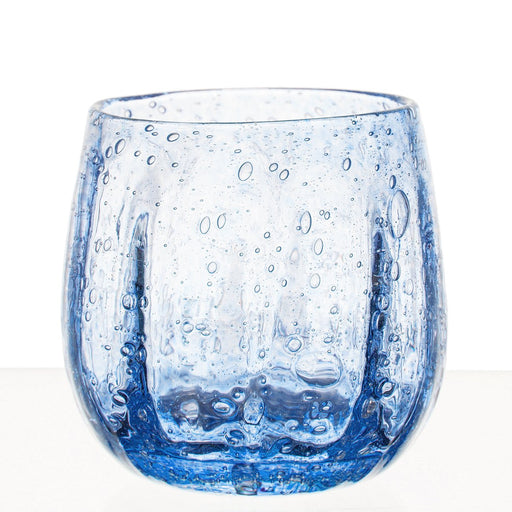 Hand Blown Blue Sangria Goblet