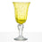 Hand Blown Yellow Water Glass
