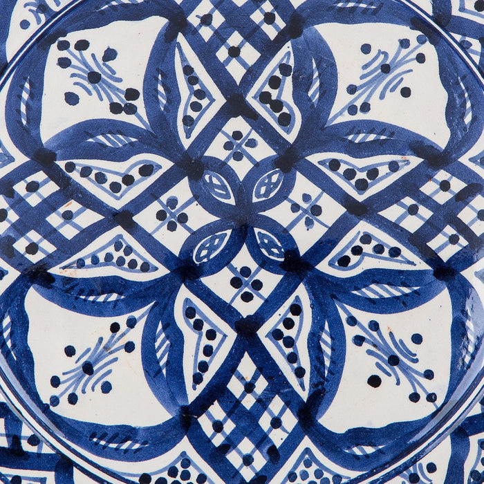 "Hand Painted Blue and White Moroccan Plate (10.5"")"