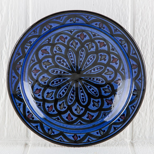 "Hand Painted Blue Moroccan Plate (10.5"")"