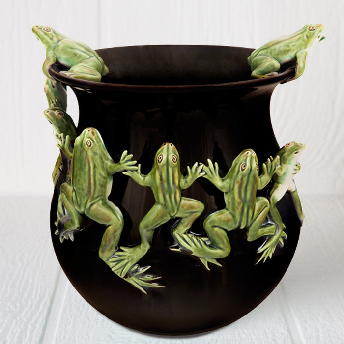 Hand Painted Frog Vase