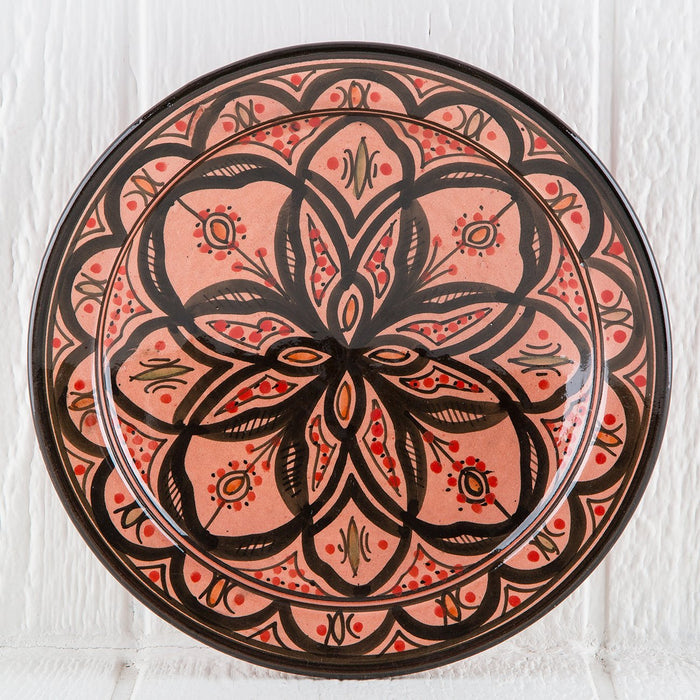 "Hand Painted Pink Moroccan Plate (10.5"")"