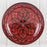 "Hand Painted Red Moroccan Plate (10.5"")"