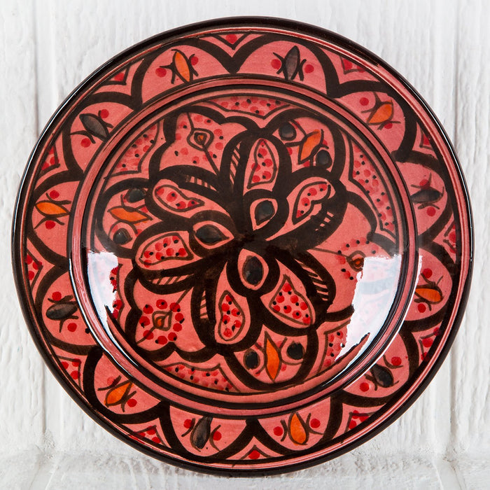 "Hand Painted Red Moroccan Plate (9"")"