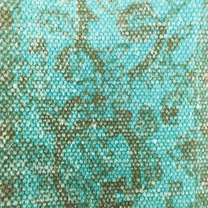 Hand Woven Turquoise Pillow (17x17)