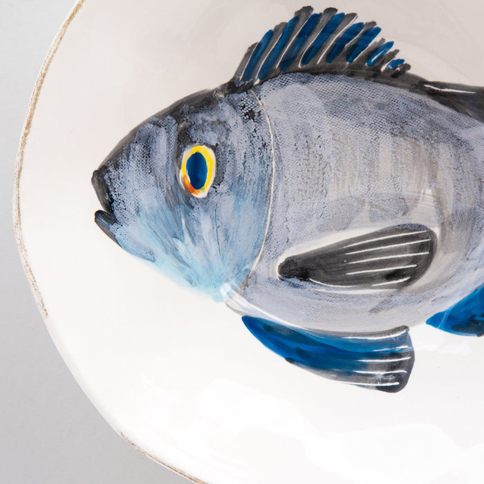 "Handcrafted Ceramic Branzino Fish Cereal Bowl (6.25"" ⌀)"