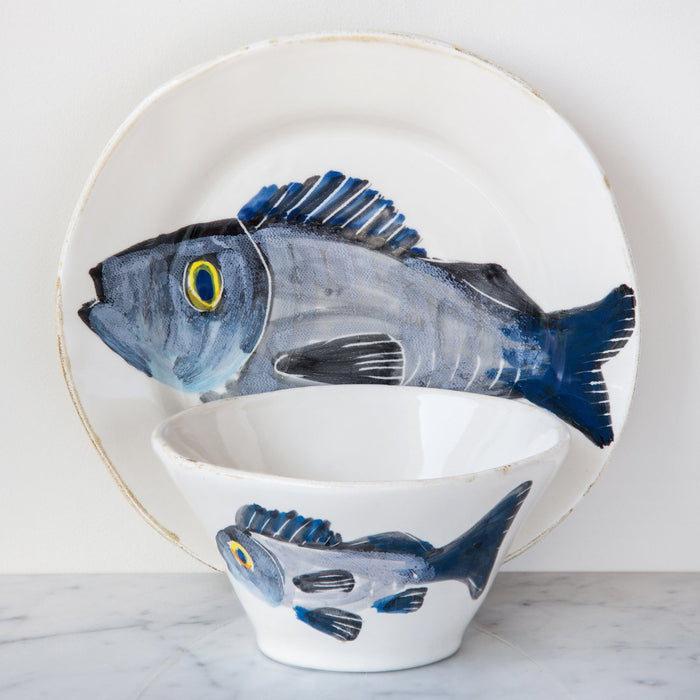 "Handcrafted Ceramic Branzino Fish Dinner Plate (11"" ⌀)"